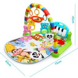 3 in 1 Baby Spielen Matte Teppich Spielzeug Kind Krabbeln Musik Spielen Spiel Entwicklung Matte mit Klavier Tastatur Infant Teppich bildung Rack Spielzeug