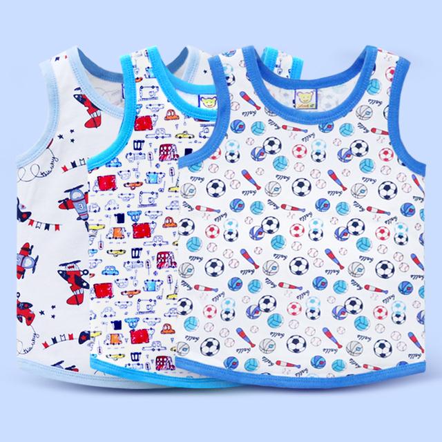 Sleeveless Colorful Cotton T-Shirts 3 pcs Set