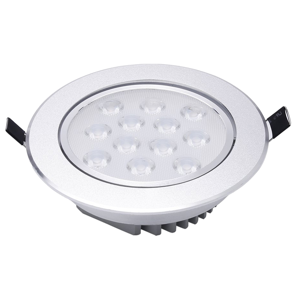 4 x Warm White LED Recessed Ceiling Lamp 12W 3000K