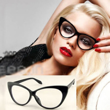 Classic Design Vintage Fashion Style Cat-Eye Shape Women Lady Girls Plastic Plain Eye Glasses