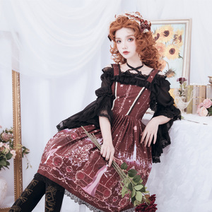 Image 3 - Astrology College ~ Sweet Printed Midi Party Dress Lolita JSK Dress