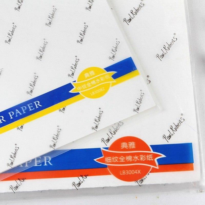 300g watercolor papel 100 algodao 10 folhas 01