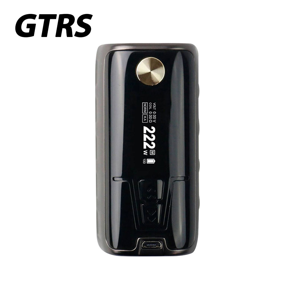 Original 222W GTRS P222 TC Box Mod with Powerful VW/TC Mode 222W Max Output No 18650 Battery Electronic Cigarette P222 Box Mod meziere wp101b sbc billet elec w p