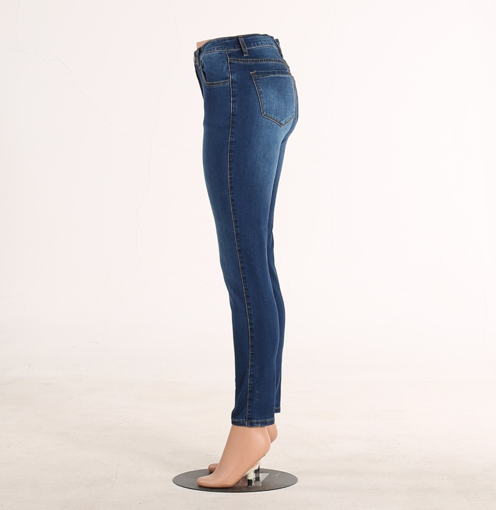 49ee37977 Skinny Jeans Womens Long Pants Denim Trousers Girls Slim Fit Jeans Ladies  Large Size Clothing Solid Color 2017 3XL 2XL XL . -in Jeans from Women's  Clothing ...