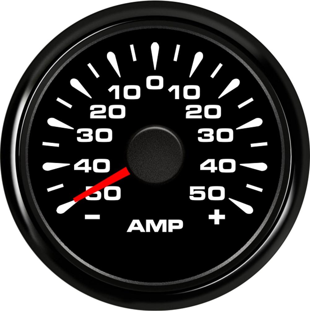 Samdo 50A Multi Color Back Light Waterproof Ampere Gauge Ammeter AMP Meter 2 52MM With Current