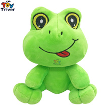 Simulation Plush Green Frog Toy Stuffed Animal Frogs Doll Baby Kids Children Birthday Gift Home Shop Decor Craft Pendant Triver стоимость
