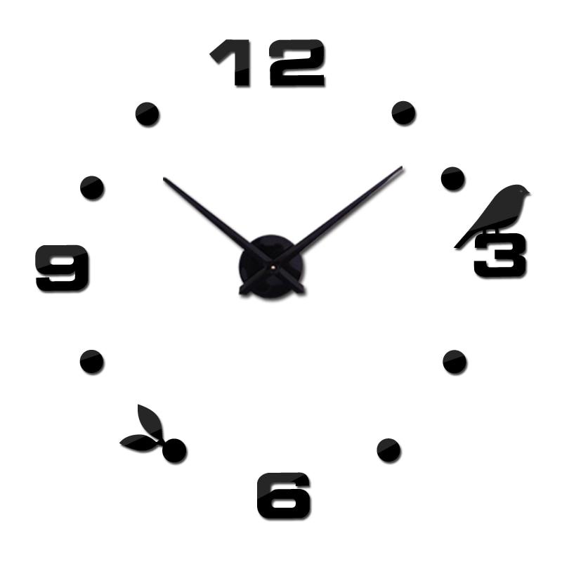 2020 nueva decoración del hogar 3d reloj de pared espejo reloj de - Decoración del hogar