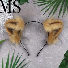 New Hand Work Animal Ears Hair Hoop tiger  Lion Snow Leopard Headwear hair accessories for girl women LOL cosplay