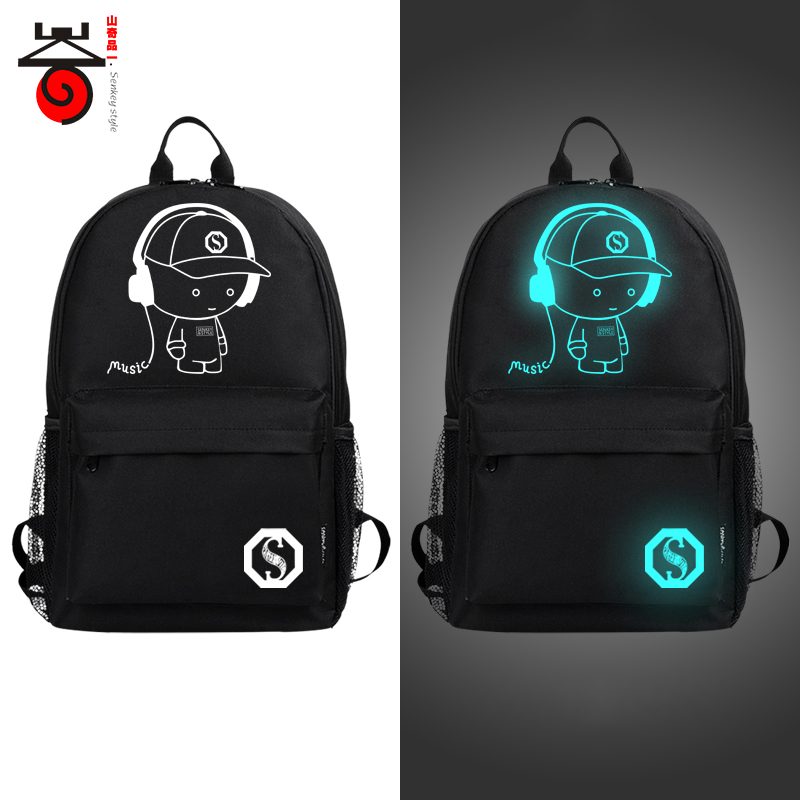 2018 Fashion Noctilucent Mens Backpacks Anime Luminous Teenagers Men Womens Student Cart ...