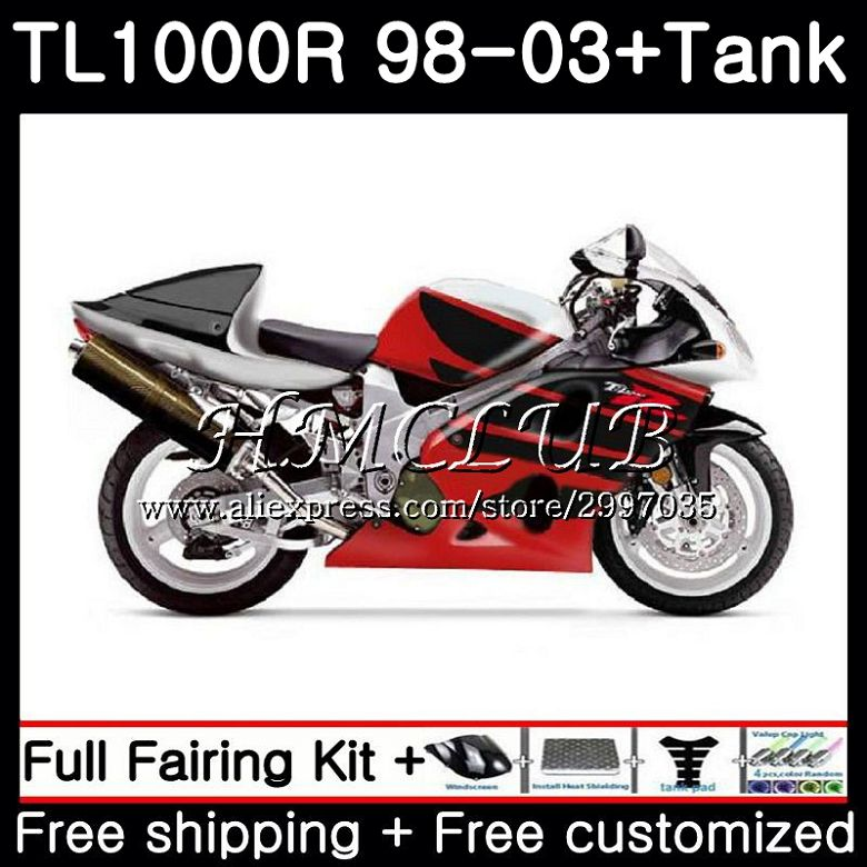 Protective Gear +tank For Suzuki Tl1000r 1998 1999 2000 2001 2002 2003 38hc.15 Tl1000 R Tl 1000 R 1000r 98 99 00 01 02 03 Stock Red Top Fairings Catalogues Will Be Sent Upon Request Motorcycle Accessories & Parts