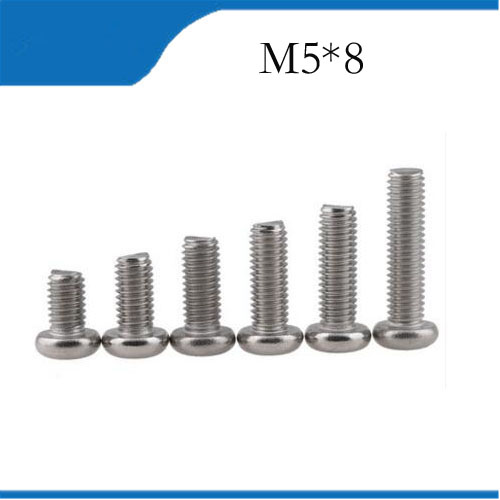 Free Shipping <font><b>M5X8mm</b></font> 50pcs Stainless Steel Pan Head Cross Socket Recessed Raised Cheese Head Pan Round Head Cross Recessed <font><b>Screw</b></font> image