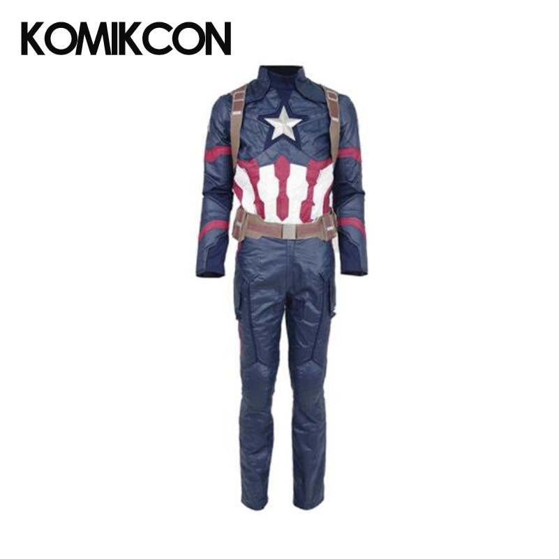 Captain America Civil War Cosplay Steve Rogers Battle Suit Costume Halloween Costume Superhero Uniform For Man Adult Christmas