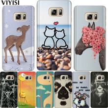 VIYISI Phone Case For Samsung Galaxy S8 A5 2017 J3 J5 J7 A3 2016 2015 S6 S7 Edge S9 Plus Animal Giraffe Coque Cover Fundas Etui все цены