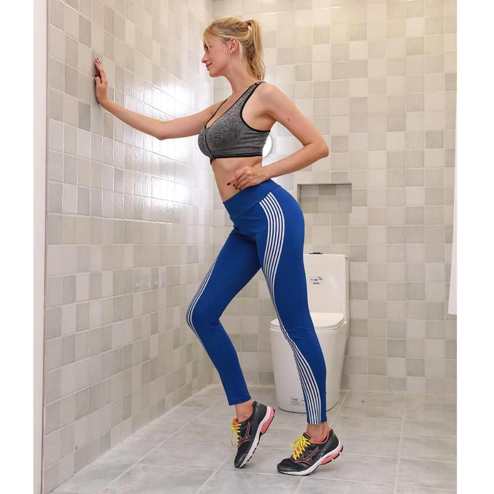65f21532c1a0f7 ... New Women's Illuminated Side Laser Bar Fitness Leggings Black Red White  Workout Slim Fit Women Pants