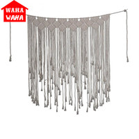 Hand woven Rope Tapestry Wall Hanging Door Curtain Tapestry Nordic Style Bohemia Fashion Wedding Backdrop/ Home Wall Decor