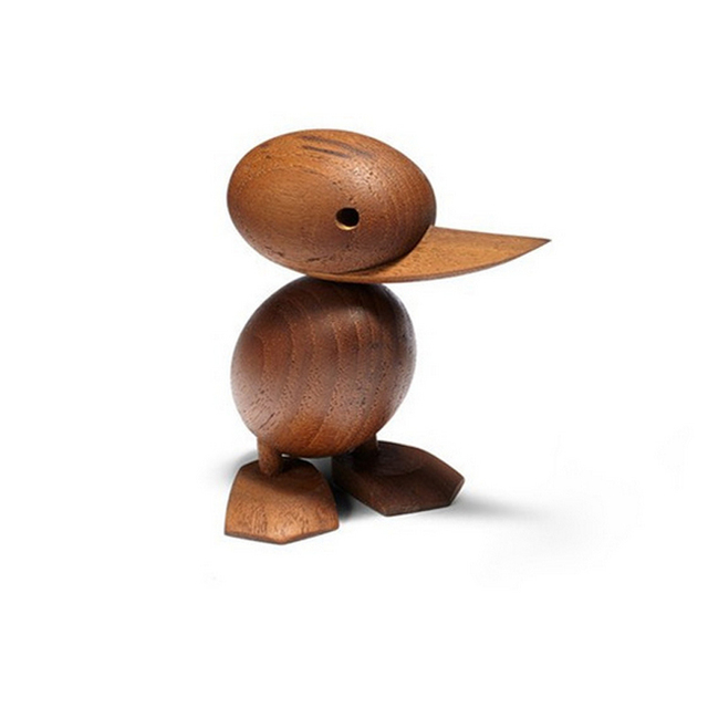small creative art crafts carved teak duck best birthday christmas gift toy