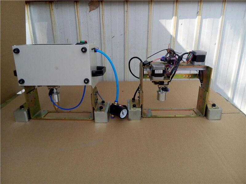 Tout en CNC Pneumatique À Broches En Métal Plaque Signalétique Machine de Marquage pour les Pièces Métalliques numérique routeur machine de marquage pneumatique pour l'acier - 4