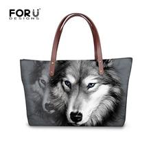 Kühlen Wolf Designer Große frauen Tragetaschen 3D Tier High Quality Dame Handtasche Leopard Löwe Tiger Kopf Top-griff Taschen Bolsas