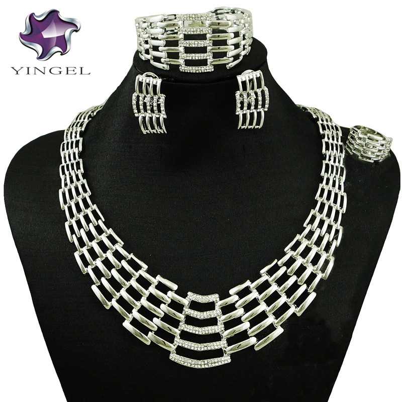 silver jewelry sets big jewelry sets women necklace free shipping