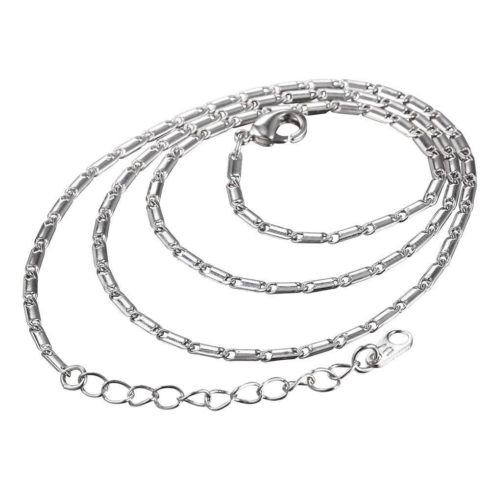 U7 podstawowe łańcuchy dla wisiorek mężczyźni/kobiety biżuteria DIY złota stal nierdzewna 3 MM/2 MM skręcona lina naszyjnik łańcuch regulowany N401