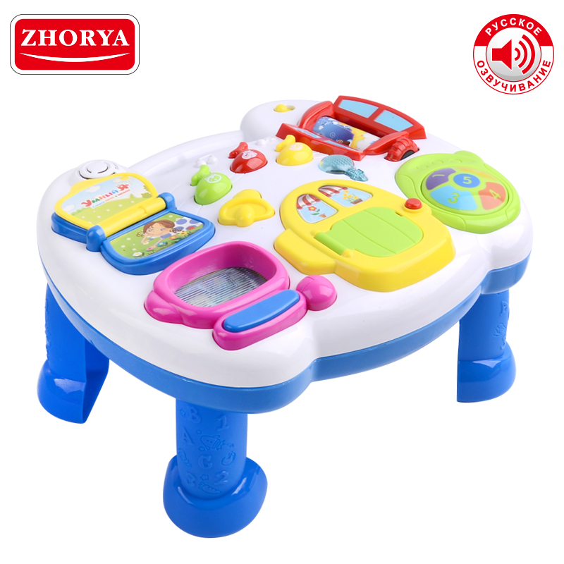 Zhorya Early Educational Learning Table Toys  Kids Music Desk with Russian Voice Music&Light For Baby Boy Girl KidsZhorya Early Educational Learning Table Toys  Kids Music Desk with Russian Voice Music&Light For Baby Boy Girl Kids