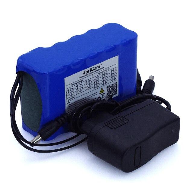 VariCore 12 v 10Ah 18650 li lon battery pack 10000 mah con BMS Bordo di Protezione del Circuito DC 5.5 * 2.1mm + 12.6 v 1A Caricatore
