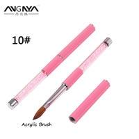 5PC Nail Acrylic Brush 10 Oval Kolinsky Sable Brush Professional Nail Art Brush Kolinsky Pink