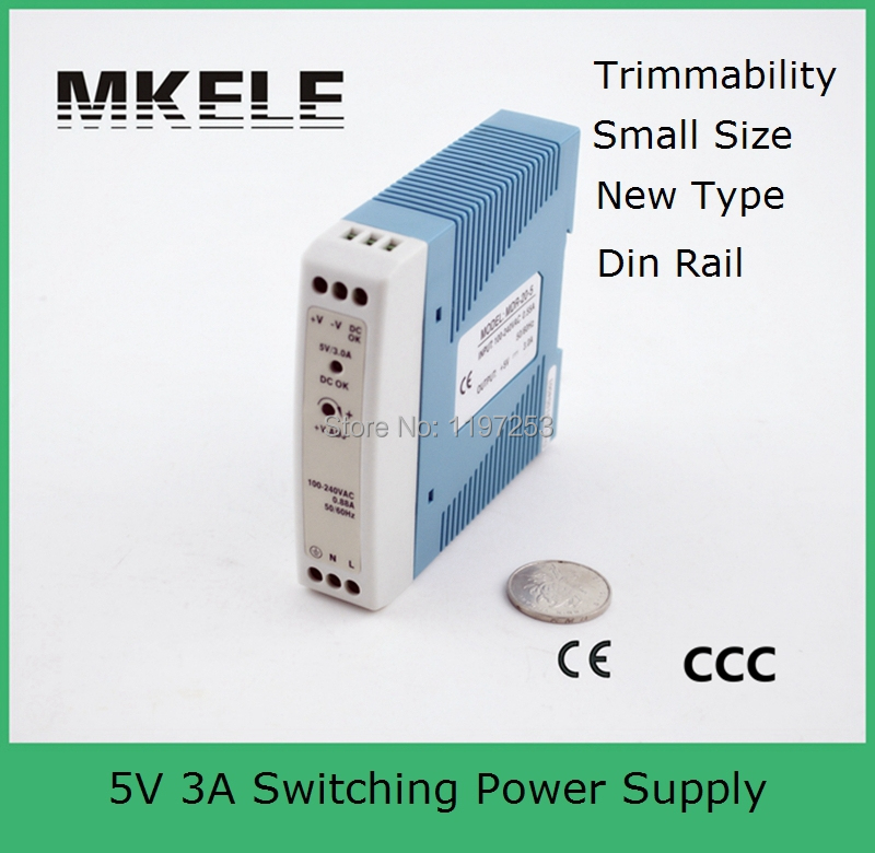 Micro din rail high stable switching power supply 220v 5v MDR-20-5 mini size 15w 5vdc 3a high efficiency single output free shipping micro din rail high stable mdr 20 5 mini size 15w 5vdc 3a new model switching power supply for led strip light