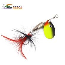 6 3g Metal Spinner Fishing Lure Sequins Crankbait swimbait Spoon Bait for Bass carp Catfish pike