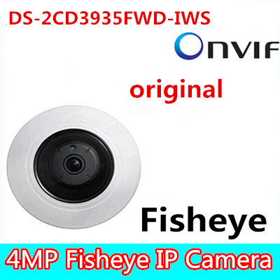 Hikvision Original DS-2CD3935FWD-IWS 3MP Fisheye View 360 IP Camera Support WiFi SD Card PoE IR 10M replace DS-2CD3942F-I hikvision ds 2cd3955fwd iws 5mp fisheye camera 360 view ip camera support wifi sd card poe ir replace ds 2cd3942f i