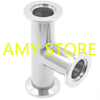 SS304 Tee KF 25 Vacuum Fittings KF Flange Size NW 25 304 Stainless Steel Quick Flange