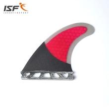 ISF Venta caliente del envío libre fibra de carbono honeycomb futuro surf pranchas de surf quillas futuros aletas 3 unidades