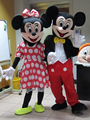 2015 New Mouse Mascot Costume Minnie Mouse Costume Mouse Costumes 2pcs Free Shipping