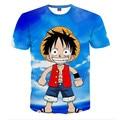 2016 New Men  3D T Shirts One Piece Cartoon Animation fashion Men/women T-shirt Printing Top Tees