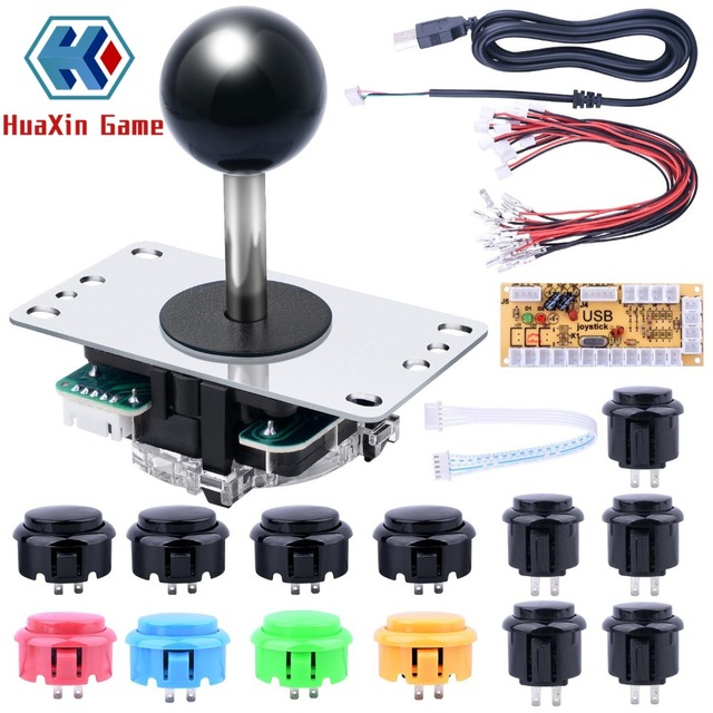 US $9 14 |Arcade Game DIY Parts kit with Classic Competition 5Pin Stick For  Arcade Joystick Games Parts Mame Jamma ,PC and Raspberry Pi -in Coin