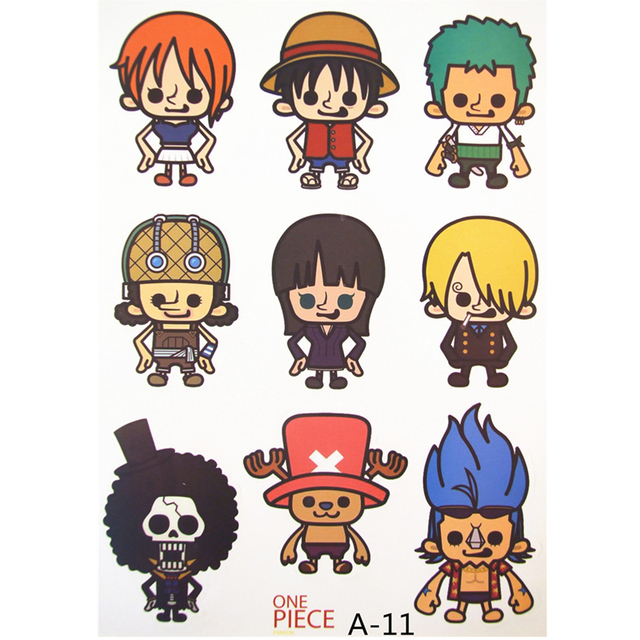 Temporary Large One Piece Anime Monkey D Luffy Tattoo
