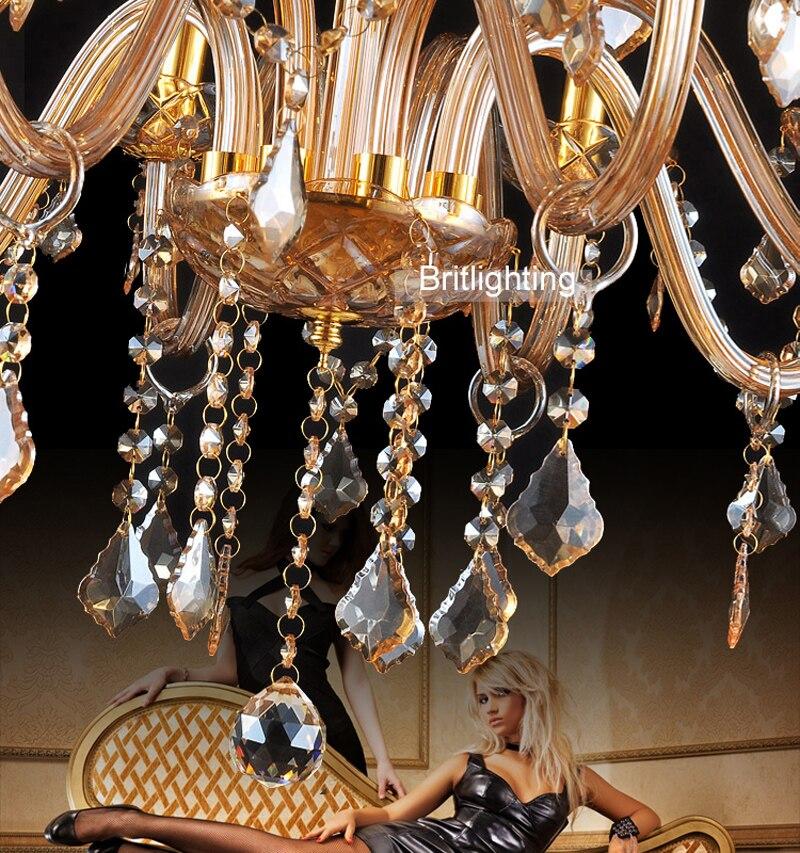 Европейский свечи хрустальные люстры потолок спальня современные хрустальная люстра люкс хрустальная люстра золотой цвет свет фойе золото хрустальная люстра Хрустальная люстра подвес ЛЮСТРЫ ПОД СТАРИНУ