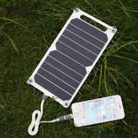amzdeal 5V 5W Solar Power Charging Panel Travel Charger For Smart Phone Tablet Portable Mini Solar Panel DIY Power Supply Bank