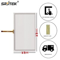 Srjtek Replacement For New 6 2 Inch 4 Wire Resistive Touch Screen Panel Digitizer For Car