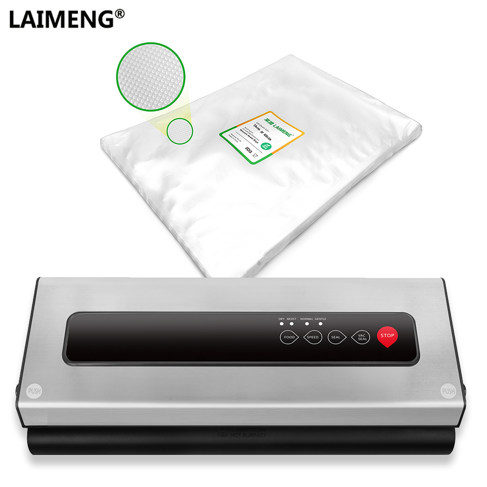 LAIMENG Vacuum Sealing Machine With Food Grade Vacuum Bags Packer For Vacuum Sealer Packaging Kitchen Appliance 110V 220V S226 laimeng automatic vacuum sealing machine for food food grade vacuum bags packaging for vacuum packer package for kitchen s217