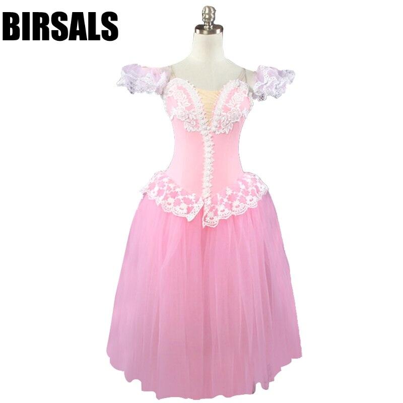 Pink Fairy Professional Ballet Long Tutu Dress Girls Women Romantic Ballet Tutu Adult Classical Ballet Dance Costumes BT8903A