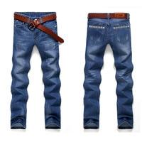 Fashion Straight Mens Biker Jeans Men Homme Casual Blue Denim Design Mens Clothing China Brand Jeans