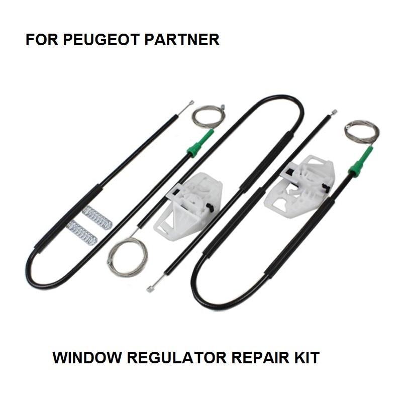 FOR PEUGEOT PARTNER ELECTRIC WINDOW REGULATOR REPAIR KIT 4/5 - DOOR FRONT LEFT-RIGHT 1996-2015