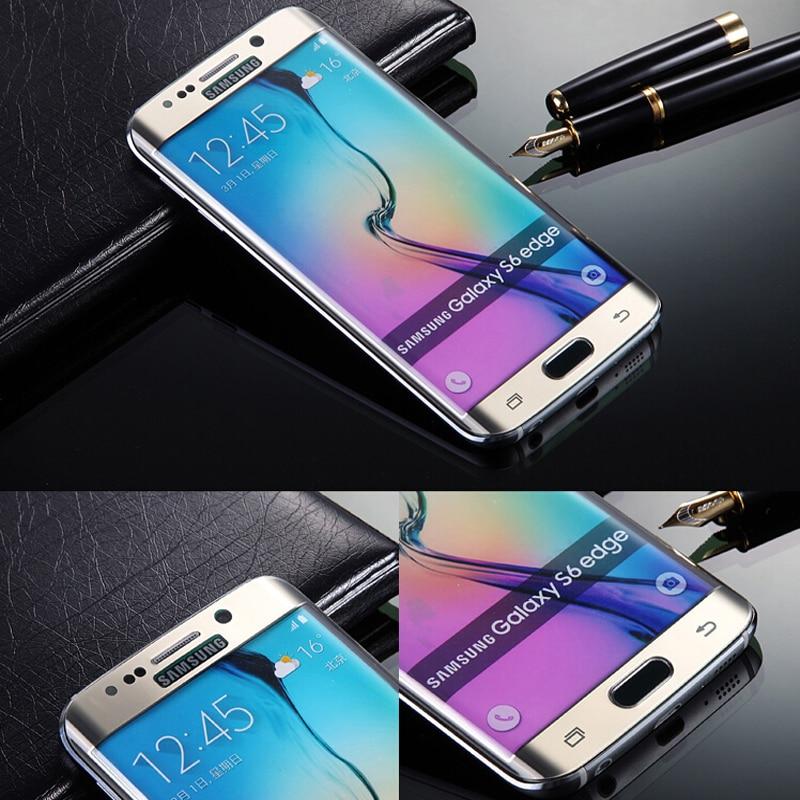 S6 Borda Além de Filme Tela De Cinema Vidro Temperado Curvo Chapeamento Completo protetor para Samsung Galaxy S6 Borda Mais G9280 G928 G928 5.7