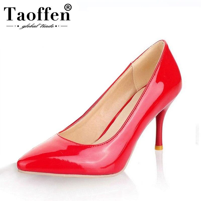 Taoffen Tamaño Mujeres 30 Oficina 47 Tacón Zapatos De Comprar Alto rCBtdshQxo