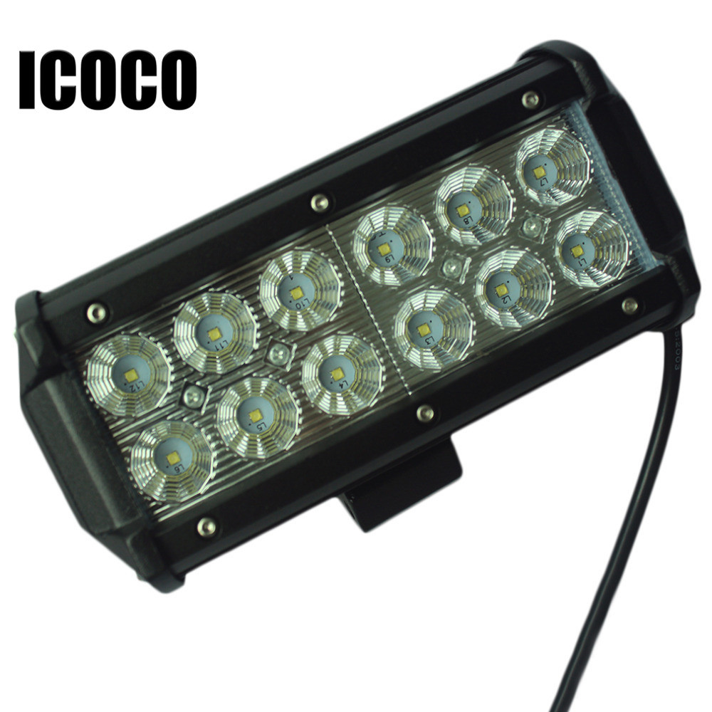 Hot  1pc 7Inch 36W for LED Work Light Bar for Indicators Motorcycle Driving Offroad Boat Car Tractor Truck 4x4 SUV ATV Flood* hot 7inch 36w led work light bar for indicators motorcycle driving offroad boat car tractor truck 4x4 suv atv flood