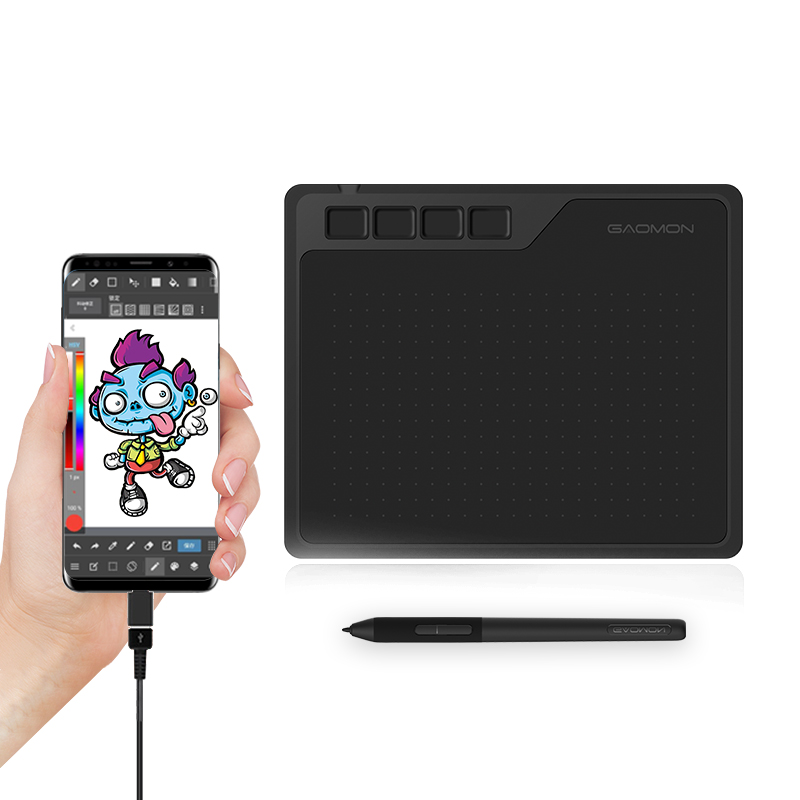 Gaomon s620 6.5x4 polegadas digital tablet, suporte android telefone windows mac os sistema gráfico tablet para desenho e jogar osu