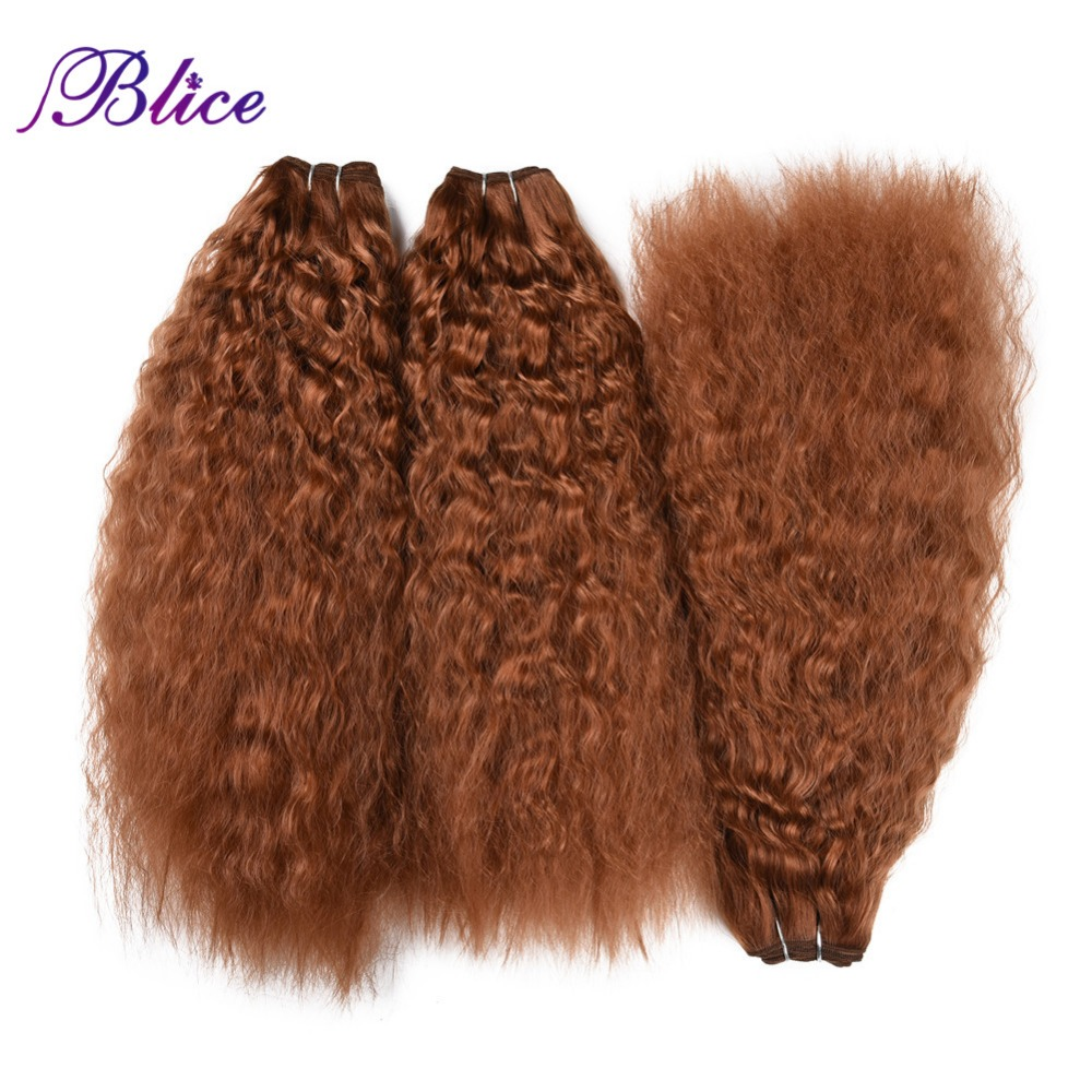 Blice kinky curly cabelo tecelagem 18-22 Polegada