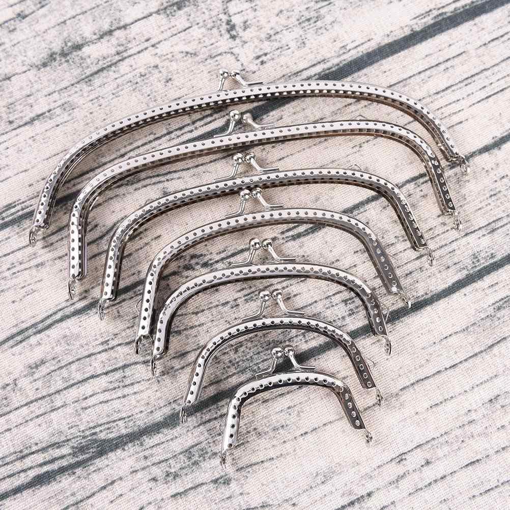 1 Uds. 6,5/8,5/10,5/12,5/15/18/20. 5cm asa a la moda bronce DIY Metal Kiss Marco de cierre de broche para bolso con asa de monedas