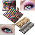 Novo 80 Full Color Eyeshadow Makeup Palette Eeyshadow Profissional Glitter Shimmer Pigmento Cosmético Compo o Jogo Kit